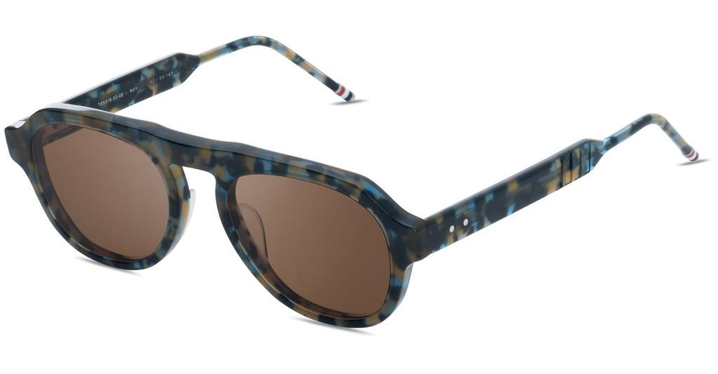 Thom Browne   TBS416 02 Dark Brown - ARNavy Tortoise