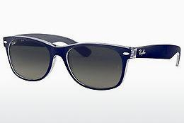 Solglasögon Ray-Ban NEW WAYFARER (RB2132 605371) - Blå, Transparent