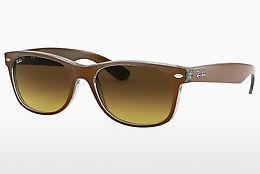 Solglasögon Ray-Ban NEW WAYFARER (RB2132 614585) - Brun, Transparent