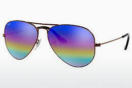 Solglasögon Ray-Ban AVIATOR LARGE METAL (RB3025 9019C2) - Grå, Brun
