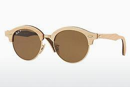 Solglasögon Ray-Ban Clubround Wood (RB4246M 117957) - Guld