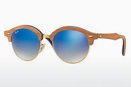 Solglasögon Ray-Ban Clubround Wood (RB4246M 11807Q) - Guld
