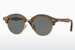 Solglasögon Ray-Ban Clubround Wood (RB4246M 118158) - Guld
