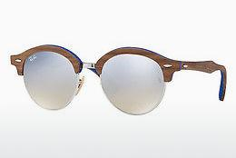 Solglasögon Ray-Ban Clubround Wood (RB4246M 12179U) - Silver