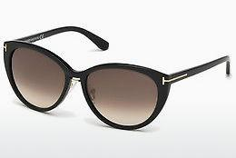 Solglasögon Tom Ford Gina (FT0345 01B) - Svart, Shiny