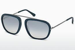 Solglasögon Tom Ford Johnson (FT0453 88C) - Blå, Turquoise, Matt