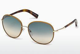 Solglasögon Tom Ford Georgia (FT0498 60W) - Beige/grå, Horn