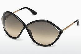 Solglasögon Tom Ford Liora (FT0528 01B) - Svart, Shiny