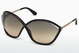 Solglasögon Tom Ford Bella (FT0529 01B) - Svart, Shiny
