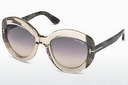 Solglasögon Tom Ford FT0581 59B - Beige/grå, Beige, Brown