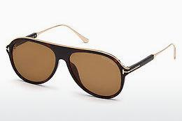 Solglasögon Tom Ford FT0624 52E - Brun, Dark, Havana