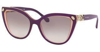 Bvlgari BV8212B 54733B GRADIENT GREY MIRRORTOP VIOLET ON OPAL BEIGE