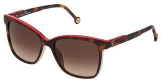 Carolina Herrera SHE792 0ADQ BROWN GRADIENTTOP AVANA+BIANCO