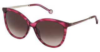 Carolina Herrera SHE798 0933 BROWN GRADIENT PINKSTRIATO LAMPONE LUCIDO