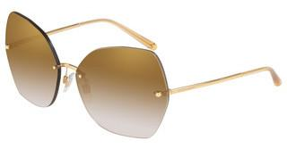 Dolce & Gabbana DG2204 02/6E GRAD LIGHT BROWN MIRROR GOLDGOLD