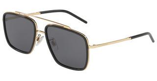 Dolce & Gabbana DG2220 02/81 DARK/LIGHT BROWN GRADIENTGOLD/BLACK