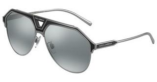 Dolce & Gabbana DG2257 12776G LIGHT GREY MIRROR BLACKGUNMETAL/MATTE BLACK