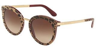 Dolce & Gabbana DG4268 315513 LIGHT & DARK BROWN GRADIENTLEO ON BORDEAUX