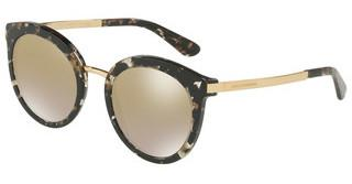 Dolce & Gabbana DG4268 911/6E CLEAR GRADIENT BROWN MIRRORCUBE BLACK/GOLD
