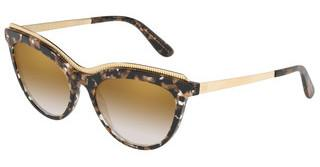Dolce & Gabbana DG4335 911/6E GRAD LIGHT BROWN MIRROR GOLDCUBE BLACK/GOLD