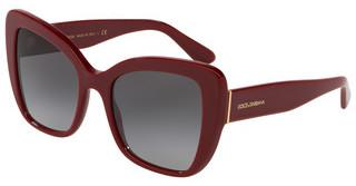 Dolce & Gabbana DG4348 30918G LIGHT GREY GRADIENT BLACKBORDEAUX