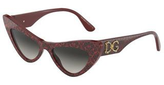 Dolce & Gabbana DG4368 32348G LIGHT GREY GRADIENT BLACKDAMASCO BLACK ON BORDEAUX