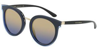 Dolce & Gabbana DG4371 323733 BLUE MIRROR GRADIENT GOLDTRANSPARENT BLUE ON BLACK