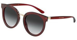Dolce & Gabbana DG4371 550/8G LIGHT GREY GRADIENT BLACKTRANSPARENT RED