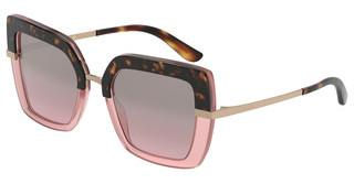 Dolce & Gabbana DG4373 32487E BROWN GRADIENT DARK BROWNTOP HAVANA ON OPAL PINK