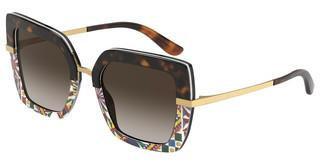 Dolce & Gabbana DG4373 327813 BROWN GRADIENT DARK BROWNHAVANA/PRINT CARRETTO