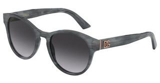 Dolce & Gabbana DG4376 32518G LIGHT GREY GRADIENT BLACKGREY MARBLE