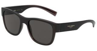 Dolce & Gabbana DG6132 325787 DARK GREYTRANSPARENT GREY/BLACK