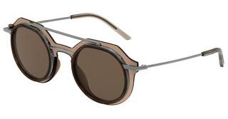 Dolce & Gabbana DG6136 325473 BROWN GRADIENT DARK BROWNTRANSPARENT BROWN