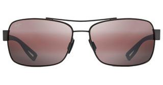 Maui Jim Ola R764-02E Maui RoseBrushed Black Gold w/ Burgundy Rubber