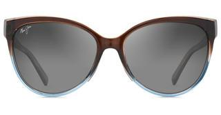 Maui Jim Olu Olu GS537-01F Neutral GreyTranslucent Dark Chocolate with Blue
