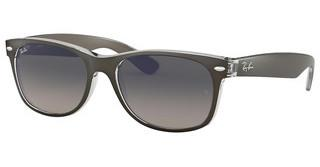 Ray-Ban RB2132 614371 GREY GRADIENT DARK GREYTOP BRUSHED GUNMETAL ON TRANSP