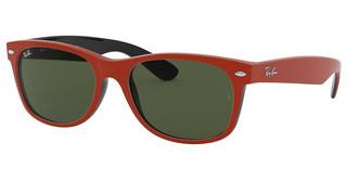 Ray-Ban RB2132 646631 GREENTOP RUBBER RED ON SHINY BLACK