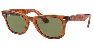 Ray-Ban RB2140 12934E BOTTLE GREENLIGHT HAVANA ON TRASP YELLOW