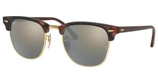 Ray-Ban RB3016 114530 LIGHT GREEN MIRROR SILVERSAND HAVANA/GOLD