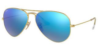 Ray-Ban RB3025 112/17 CRY.GREEN  MIRROR MULTIL.BLUEMATTE GOLD