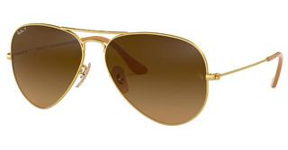 Ray-Ban RB3025 112/M2 BROWN GRADIENT BROWN POLARMATTE GOLD