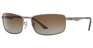 Ray-Ban RB3498 029/T5 GREY GRADIENT BROWN POLARMATTE GUNMETAL