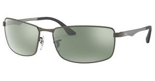 Ray-Ban RB3498 029/Y4 GREEN MIRROR SILVER POLARMATTE GUNMETAL