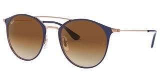 Ray-Ban RB3546 917551 CLEAR GRADIENT BROWNCOPPER ON TOP DARK BLUE