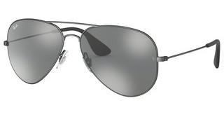 Ray-Ban RB3558 91396G GREY MIRROR SILVERMATTE BLACK ANTIQUE