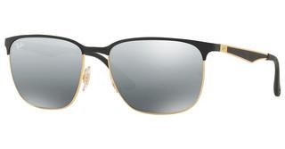 Ray-Ban RB3569 187/88 GREY MIRROR SILVER GRADIENTGOLD TOP BLACK