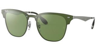 Ray-Ban RB3576N 042/30 DARK GREEN MIRROR SILVERBRUSCHED SILVER