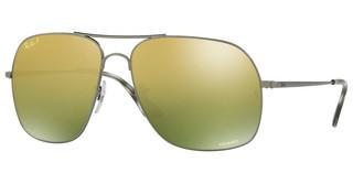 Ray-Ban RB3587CH 029/6O GREEN MIR GOLD GRADIENT POLARMATTE GUNMETAL