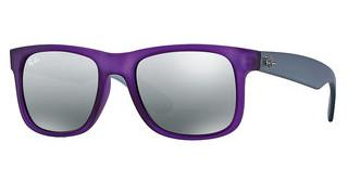 Ray-Ban RB4165 602488 grey silver mirror gradientviolet