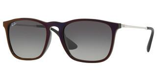 Ray-Ban RB4187 631611 GREY GRADIENT DARK GREYBLACK SP RED